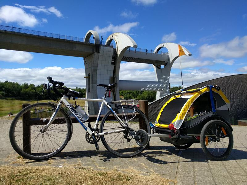 Bike & Trailer at the Falkirk Wheel