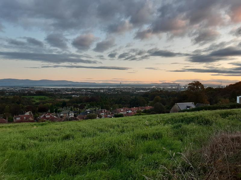 View over the forth valley at sunrise